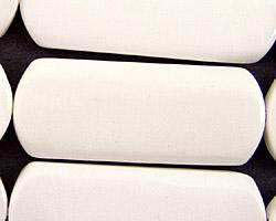 White Agate Flat Tube 40x15mm