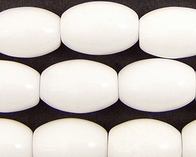 White Agate Rice 16x12mm