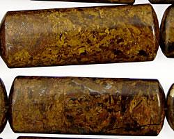 Bronzite Flat Tube 40x15mm