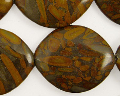 Golden Horse Jasper Horse Eye 30x25mm