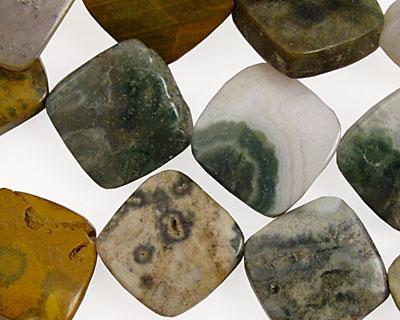 Ocean Jasper Puff Diamond 16mm