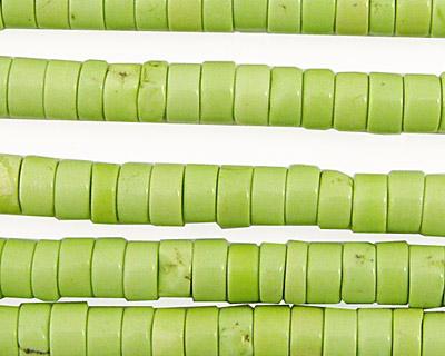 Apple Green Turquoise Heishi 6mm