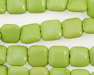 Apple Green Turquoise Puff Square 10mm