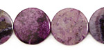 Purple Crazy Lace Agate Puff Coin 18mm