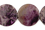 Purple Crazy Lace Agate Puff Coin 25mm