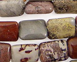 Coffee Bean Jasper Thin Pillow 16x12mm