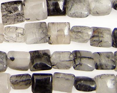 Tourmalinated Quartz Puff Square 8mm