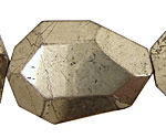 Golden Pyrite (silver tone) Faceted Flat Slab 35-45x25-35mm