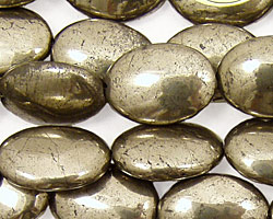 Golden Pyrite (silver tone) Flat Oval 18x13mm