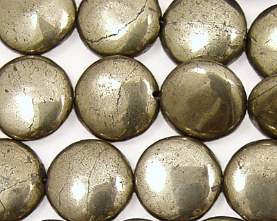 Golden Pyrite Puff Coin 14mm