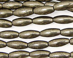 Golden Pyrite (silver tone) Rice 12x5mm