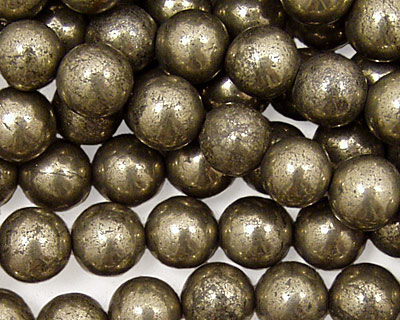 Golden Pyrite (silver tone) Round 8mm