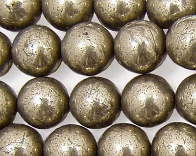 Golden Pyrite Round 12mm