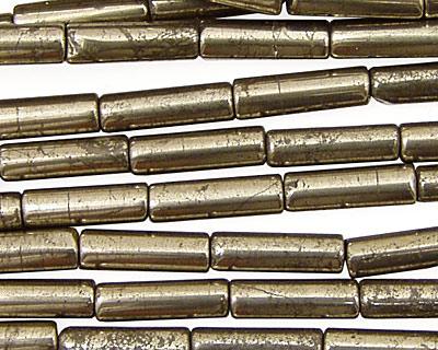 Golden Pyrite Tube 13x4mm