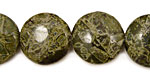 African Green Jasper Puff Coin 18mm