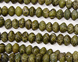 African Green Jasper Rondelle 6mm