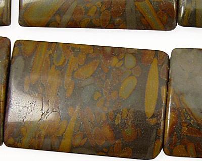 Golden Horse Jasper Thin Pillow 35x25mm