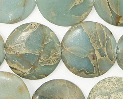 Impression Jasper Puff Coin 20mm