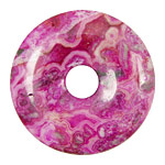 Ruby Crazy Lace Agate Donut 45mm
