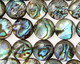 Abalone Puff Coin 10mm