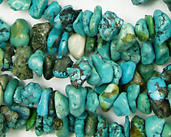 Chinese Turquoise (stab.) Chips