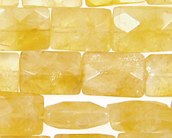 Citrine Faceted Pillow 14x10mm