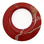 Red Bend Jasper Faceted Donut 40mm