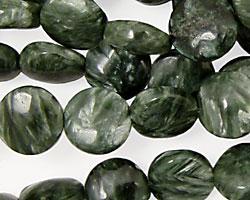 Seraphinite Puff Coin 10mm