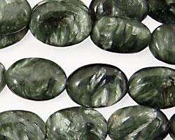 Seraphinite Flat Oval 14x10mm