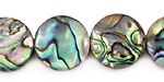Abalone Puff Coin 16mm