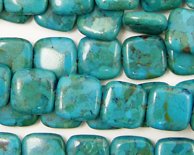 Chinese Turquoise (rec.) Puff Square 10mm