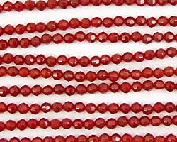 Carnelian Faceted Round 3mm