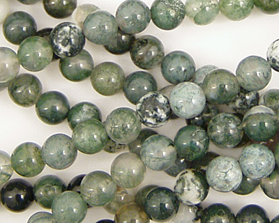 Moss Agate Round 6mm