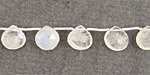 Moonstone (rainbow) Faceted Flat Teardrop 8mm
