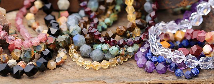 Star Cut Round Gemstones