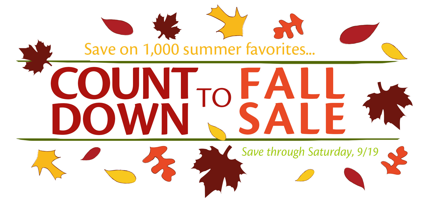 Countdown to Fall Sale at Lima