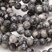 Black Water Jasper Beads