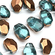 Aquamarine (syn.) Beads