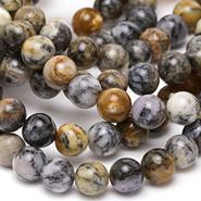 Black Moss Opal Beads