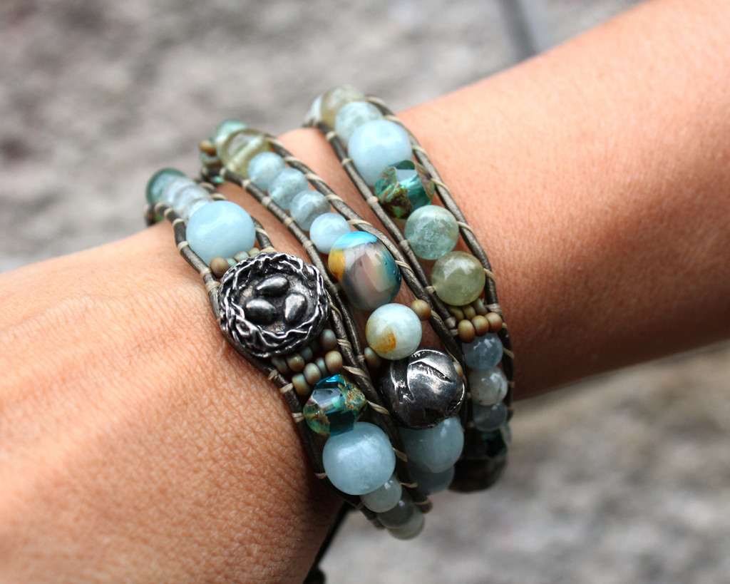 Flying Home 3 Wrap Bracelet Customer Design Lima Beads