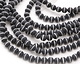 Black Onyx & White Agate Banded (matte) Round 8mm