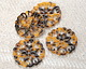 Zola Elements Tortoise Shell Acetate Floral Openwork Mandala Focal 40mm