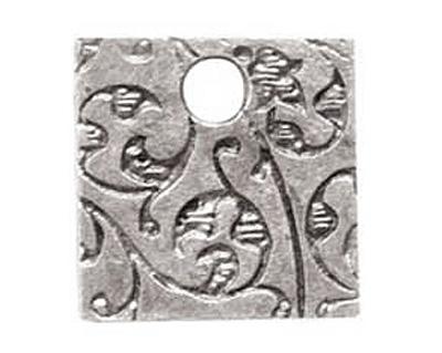 Nunn Design Antique Silver (plated) Mini Square Crown Tag 13mm
