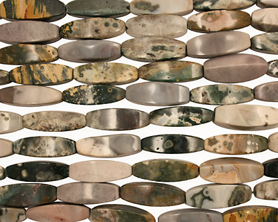 Ocean Jasper 4-Sided Rice 28-32x10-12mm
