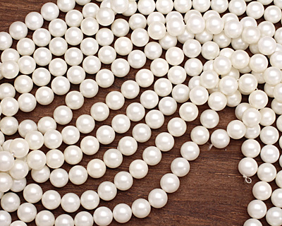 Cream Shell Pearl Round 14mm