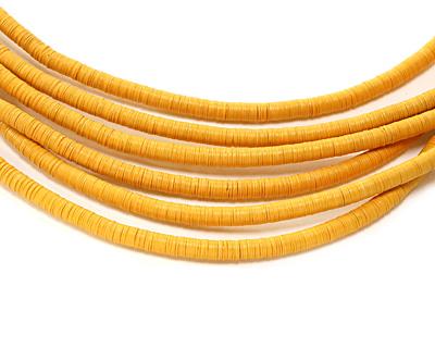 African Trade Marigold Vinyl/Vulcanite Heishi 6mm