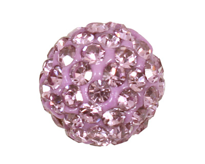 Lilac Pave Round 8mm