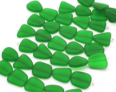Shamrock Recycled Glass Flat Freeform 21-23x18-20mm