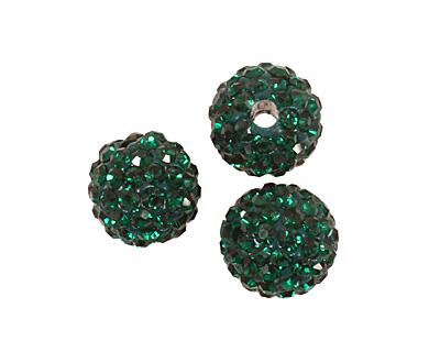 Emerald Pave Round 8mm