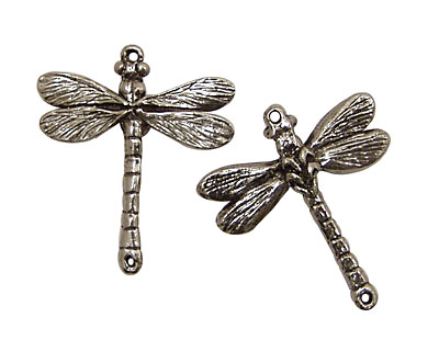 Green Girl Pewter Dragonfly Link 30x35mm